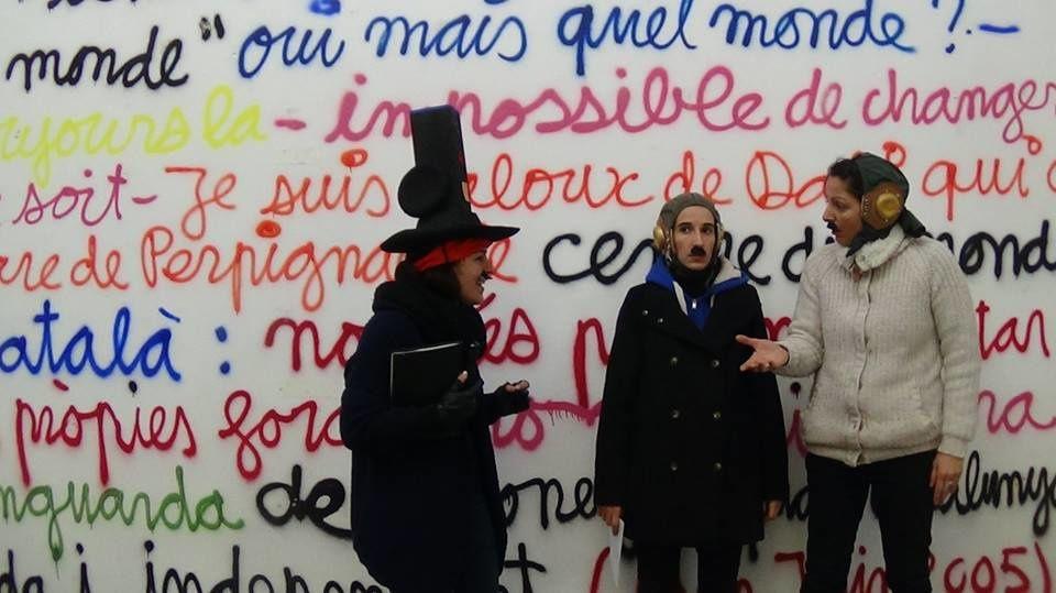Perpignan: il reste peu de place pour aller voir le pe_ndu à cents mètres du centre du monde jusqu'à mardi! interviews par Nicolas Caudeville