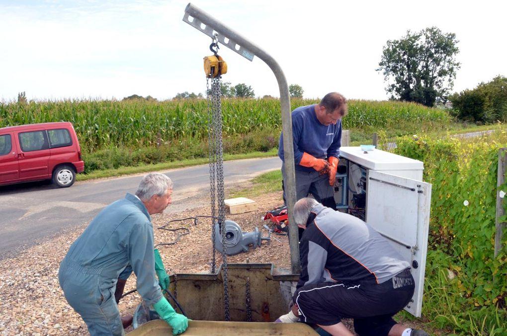Assainissement remplacement d'une pompe à La Villeneuve