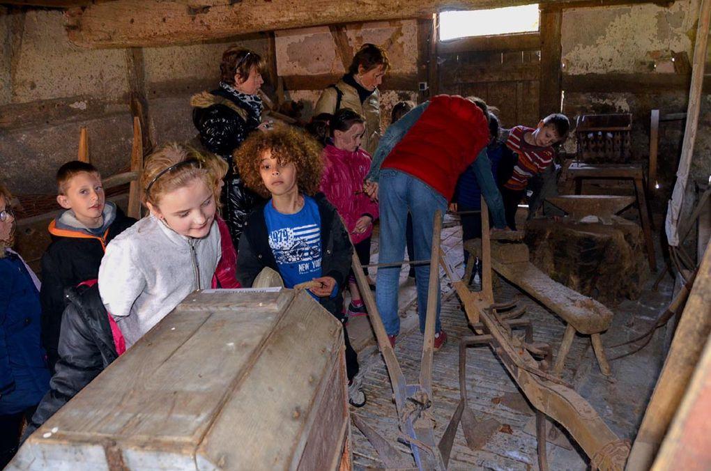 La classe de CP et CE1 découvre la ferme du Sougey