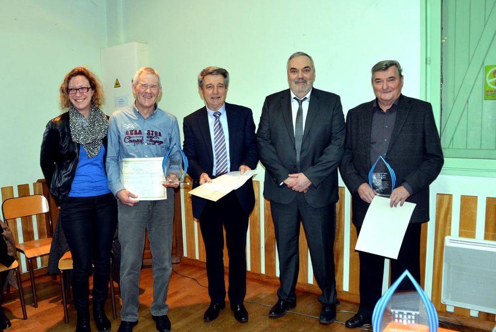 Guy Mortel, maire honoraire, Roland Marc et Roland Baissard, maires-adjoints honoraires