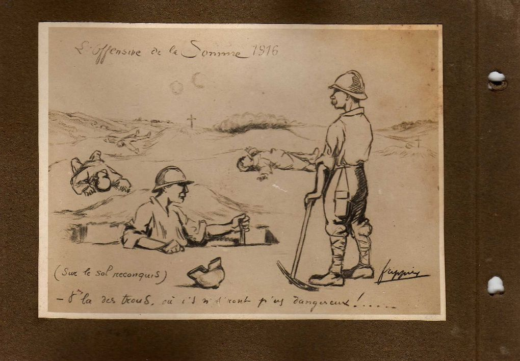 Carnet du soldat dessinateur Frippier