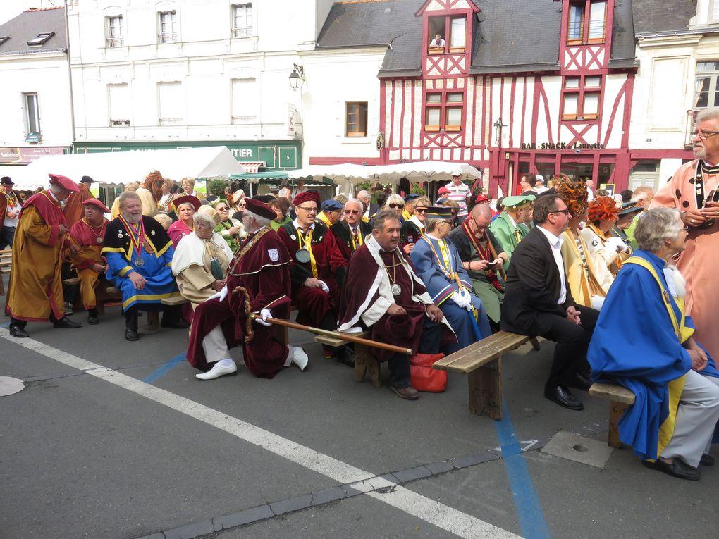 Grand Chapitre de la Confrérie des Rillauds d'Anjou et des Vins de BRISSAC.  Dimanche 5 juillet 2015.