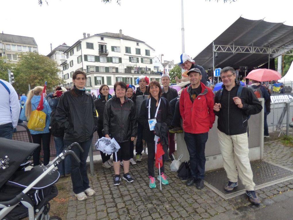 Kevin Campion et ses supporters de l'AFA Feyzin-Vénissieux à Zurich - Photos : AFA Feyzin-Vénissieux