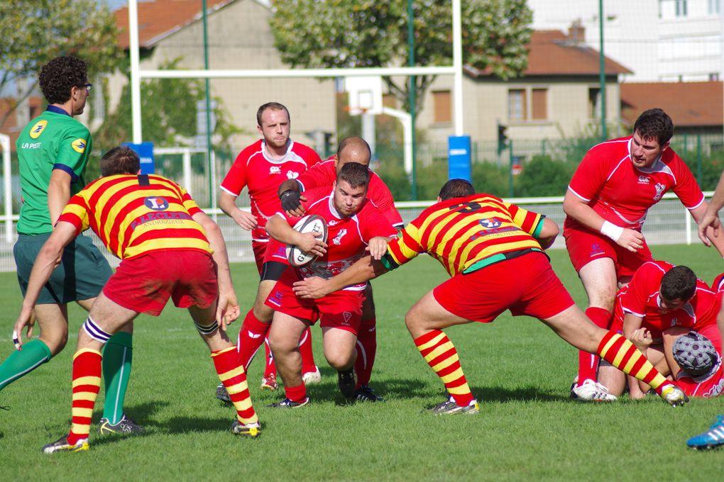 L'US Vénissieux Rugby face à Feurs a signé sa première victoire de la saison.