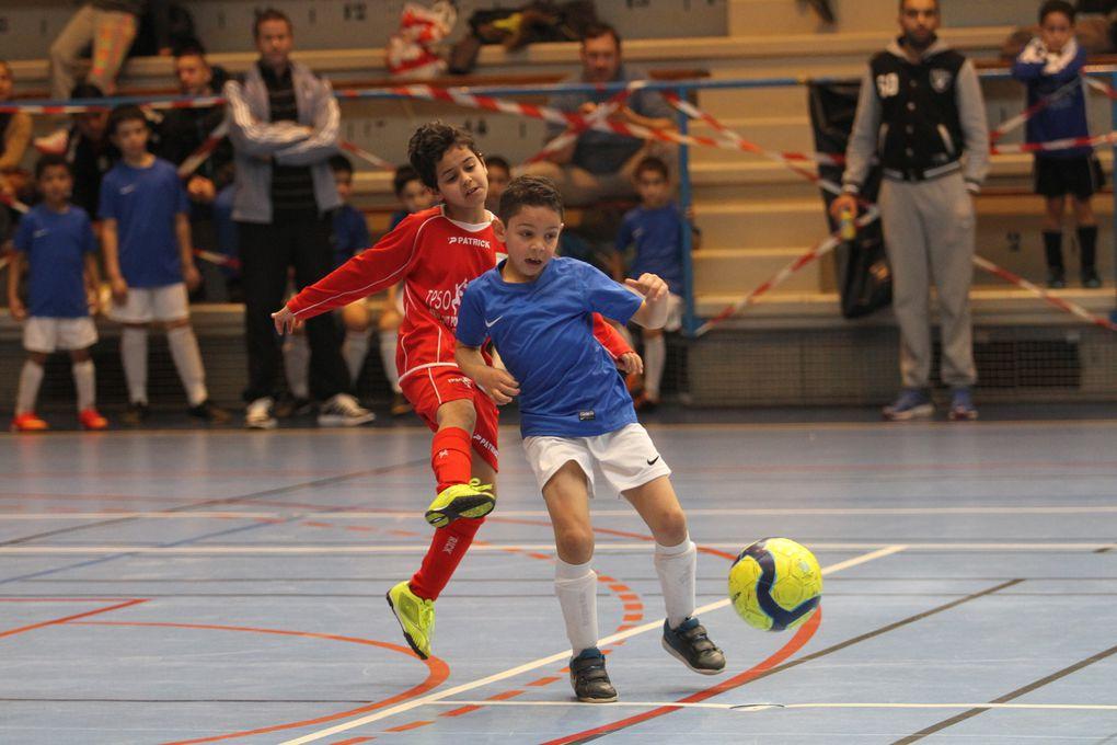 U7, U9 et U11 ont profité de conditions idéales pour la pratique du football en salle