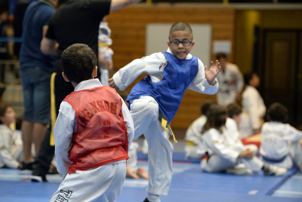 Le taekwondo version jeunes était à la fête ce week-end au gymnase Jacques Anquetil - Photos : © RB