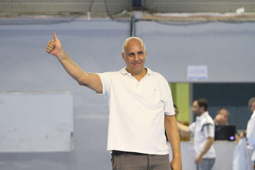 Denis Lathoud a donné le coup d'envoi du dernier match de la saison