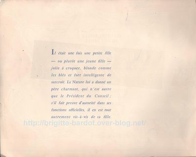 Brigitte Bardot : Programme film &quot&#x3B;Une Parisienne&quot&#x3B;