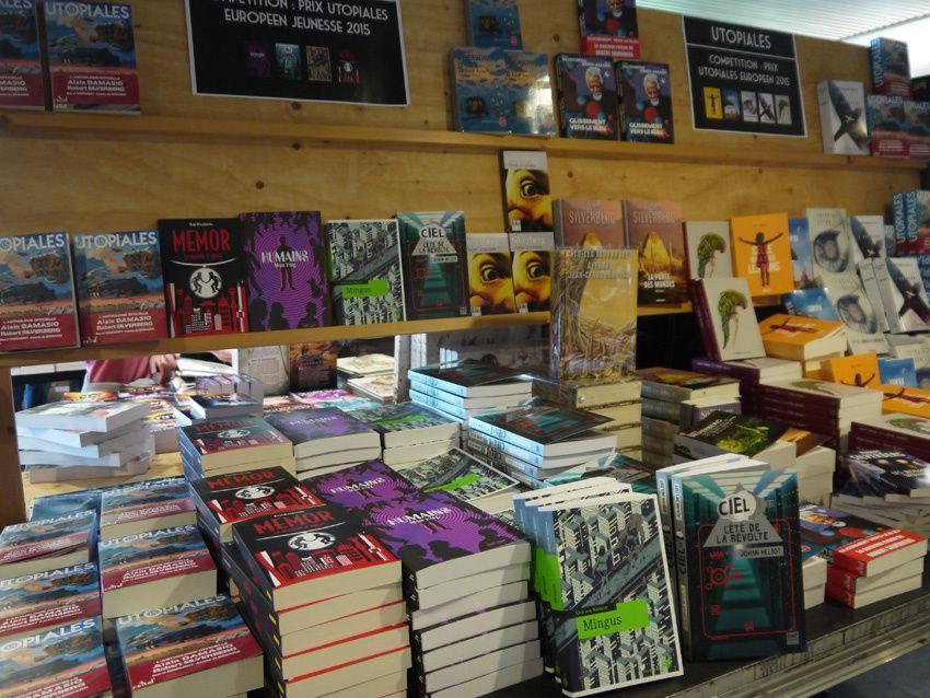 Librairie éphémère des Utopiales 2015