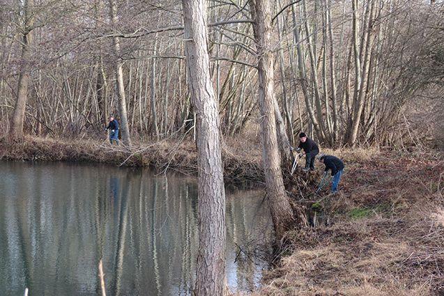 Entretien des lots de pêche