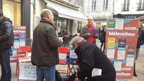 10-11 décembre 2016 : La Rochelle insoumise en campagne pour le programme &quot&#x3B; L'avenir en commun &quot&#x3B;
