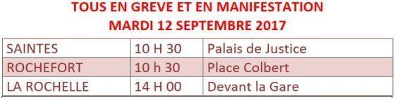 Après le 9 septembre les insoumis du 17 mobilisés pour l'action le 12, le... et le 23 septembre à Paris