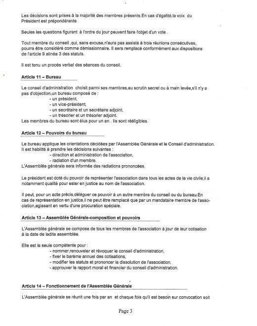 Statuts de l'association 2016