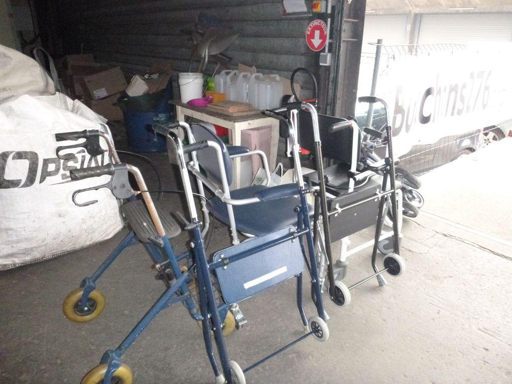 24 mars 2016 - collecte de matériel pour personnes à mobilité réduite