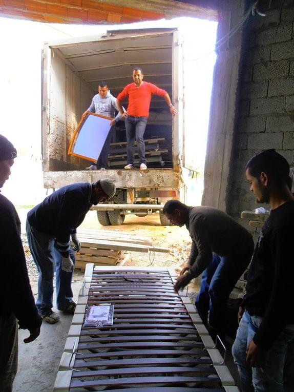 15 décembre 2016 - Le container est livré à Gabès.