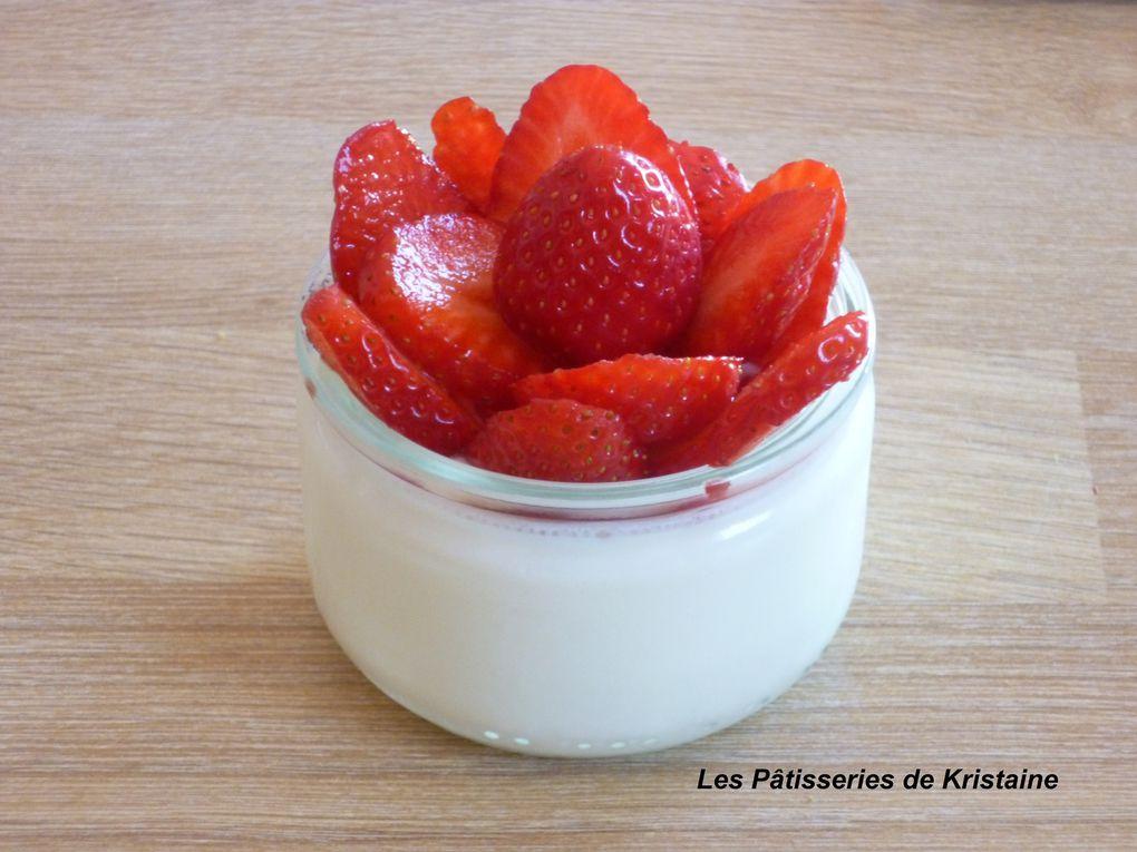 Yaourts aux fraises