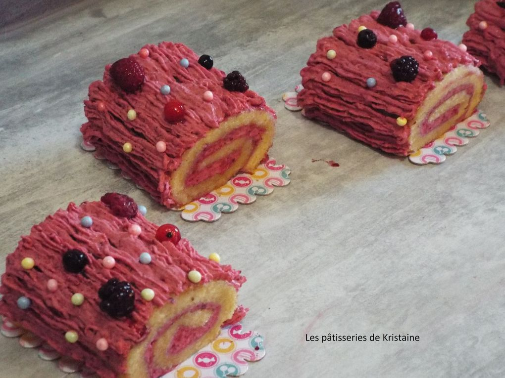 Buche de Noël aux Fruits Rouges