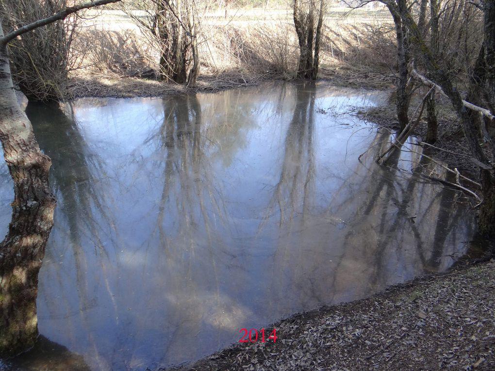 Le résultat une eau bien souvent largement douteuse. photos de 2012 à 2017