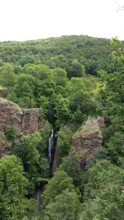 La cascade vue du haut.