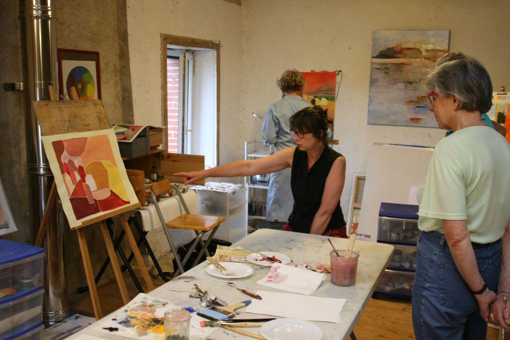 Les artistes au travail