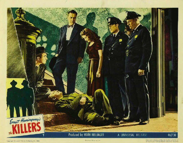 THE KILLERS (Les Tueurs) Robert Siodmak (1946), avec Burt Lancaster et Ava Gardner