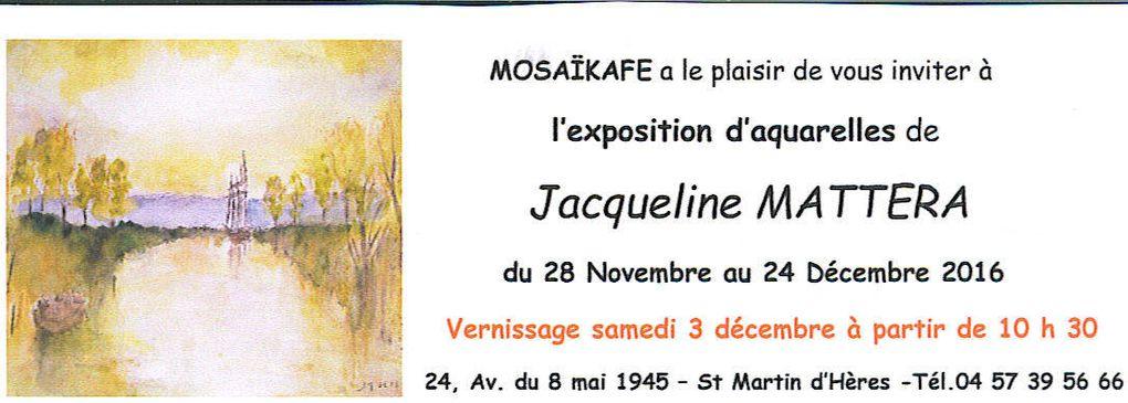Exposition de peinture de Jacqueline