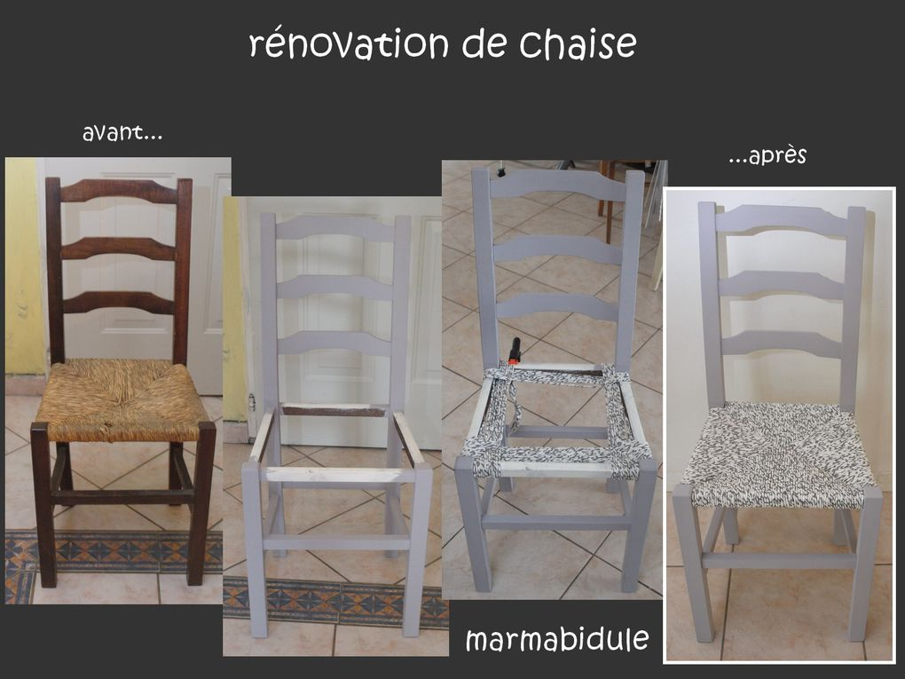 rénovation de chaise 2