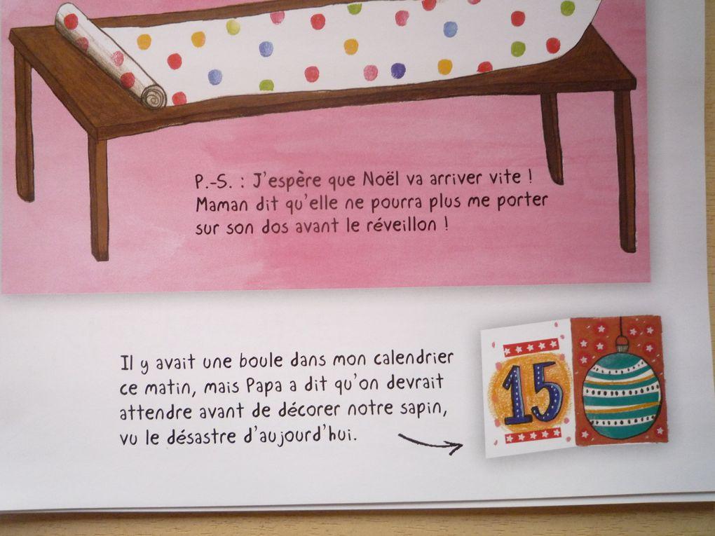 Nous nous attachons à Antoine et à ses bêtises, ces lettres nous font bien sourire surtout les PS, idem pour les petits mots sur le calendrier de l'Avent