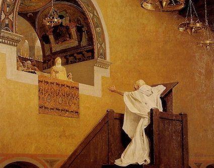 Saint Jean Chrysostome et l'Impératrice Eudoxie - Jean-Paul Laurens (1838 - 1931)
