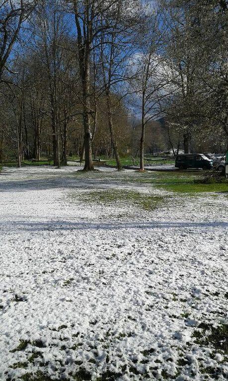 De la neige au réveil le 1er mai ! Heureuse surprise pour les participants !