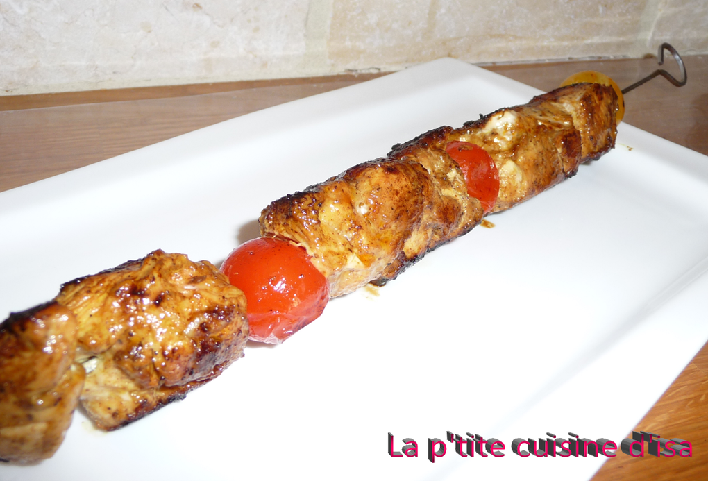 Brochettes de poulet au cocktail d'épices