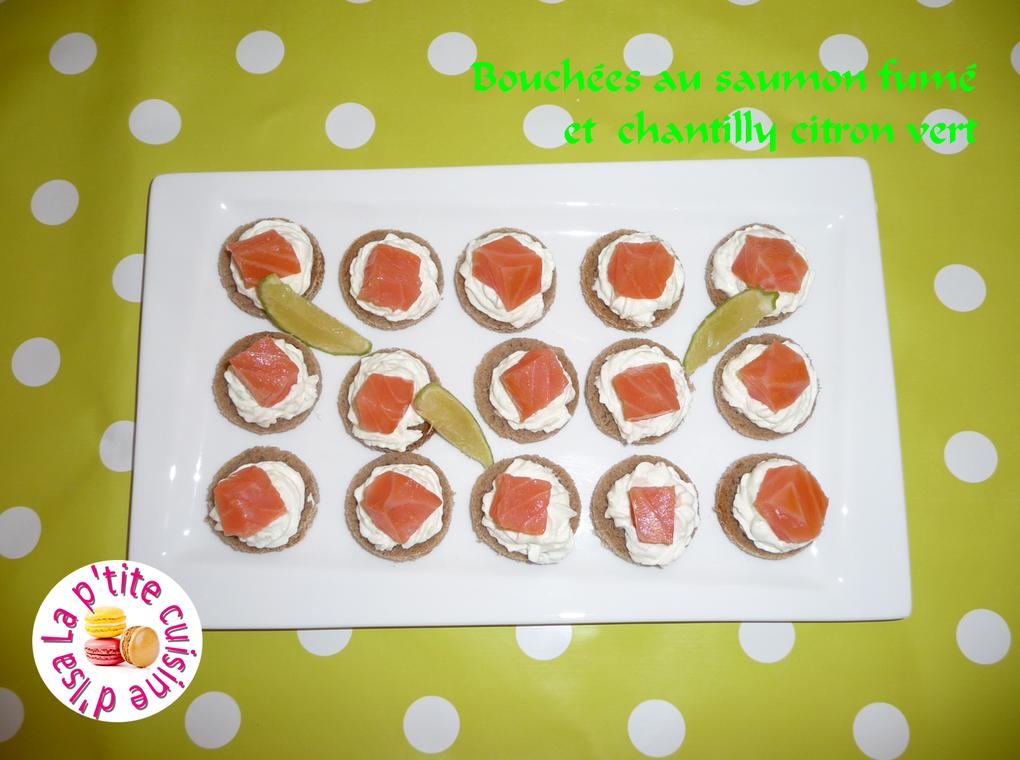 Bouchées au saumon fumé et chantilly citron vert