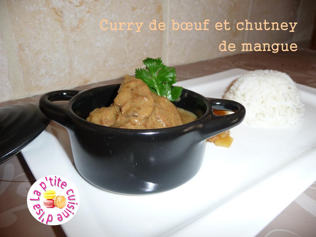 Curry de bœuf et chutney de mangue