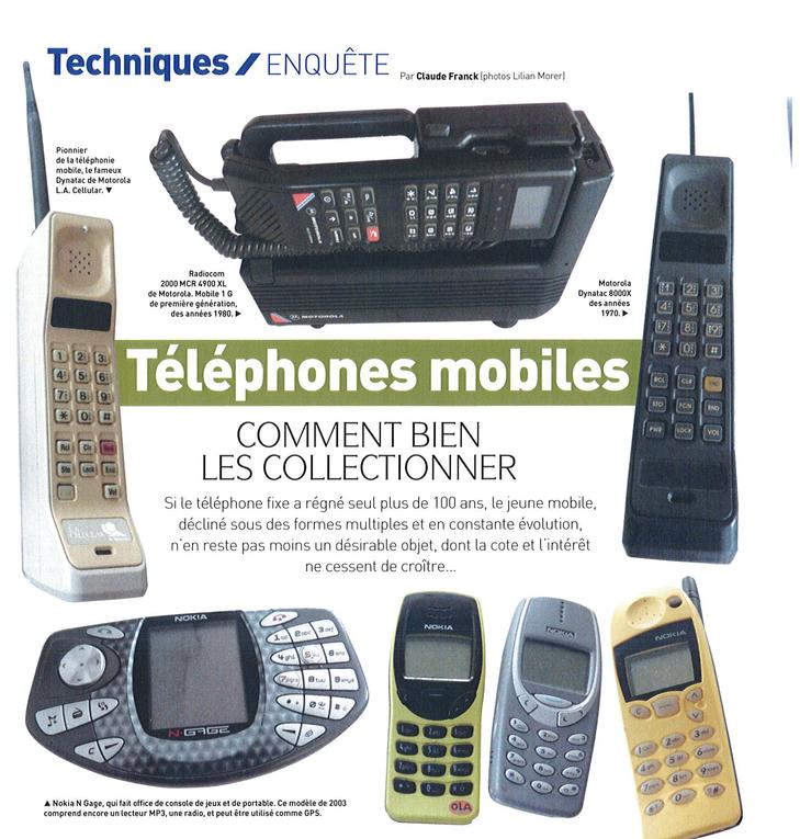 téléphones de collection collectionneur chineur