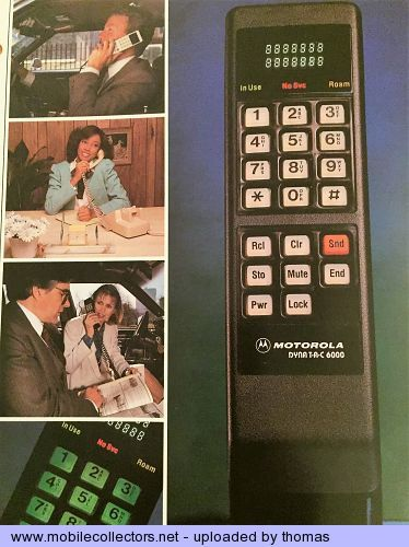 Anniversaire telephone portable motorola Dyanatac 44 ans