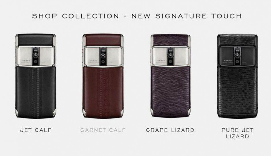 Telephones de collection VERTU pour mobilophiles