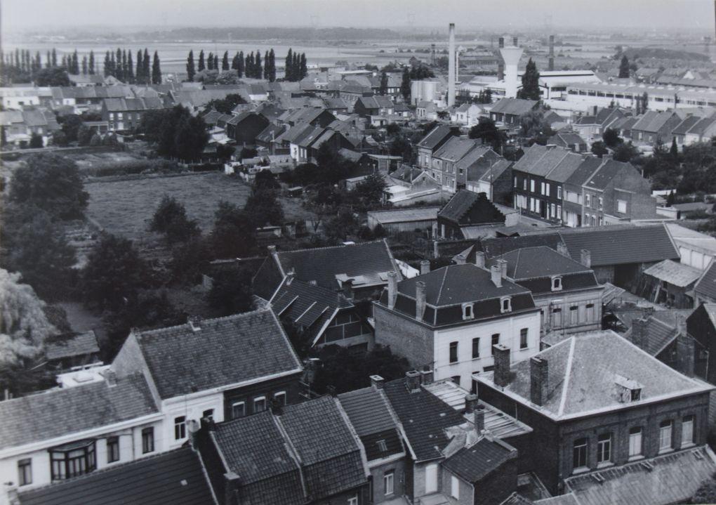 Photographies prise depuis le haut de la tour-clocher de l'église Saint-Martin d'Aniche le 9 août 1982.
