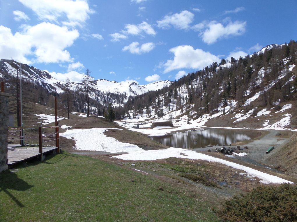 une belle randonnée de printemps en ITALIE , de Clavière jusqu'au refuge Gimont (2035m) et le Colle Bercia (2220m)