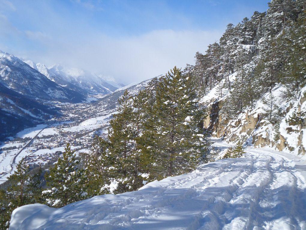 départ de la Fontaine de l'Ours (1400m) , montée à ski de fond (avec peaux) jusqu'à la Croix de Toulouse (1975m) en passant par le hameau de Serre Lan (1847m) !! un grand classique des premières neiges !!