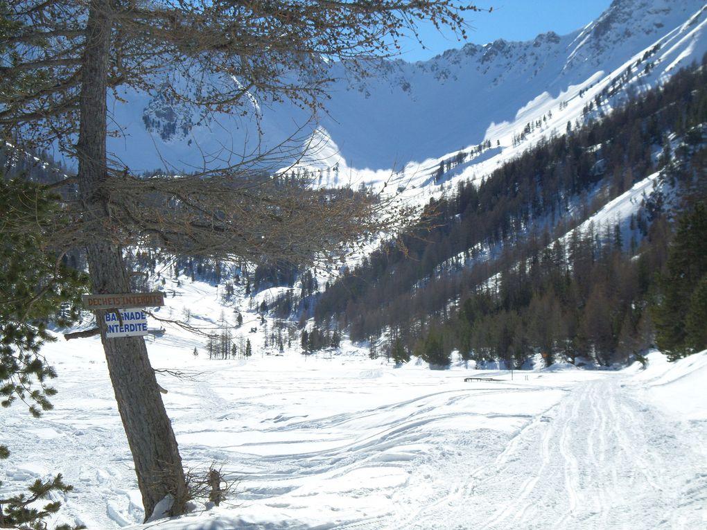 départ de Villard St Pancrace (1300m), et montée à ski de fond (avec 1/4 de peaux) jusqu'au Hameau des Ayes (1715m) puis jusqu'au Lac de l'Orceyrette (1927m) puis montée jusqu'aux premiers chalets de l'Alp (2000m) !! superbe itinéraire nordique !!