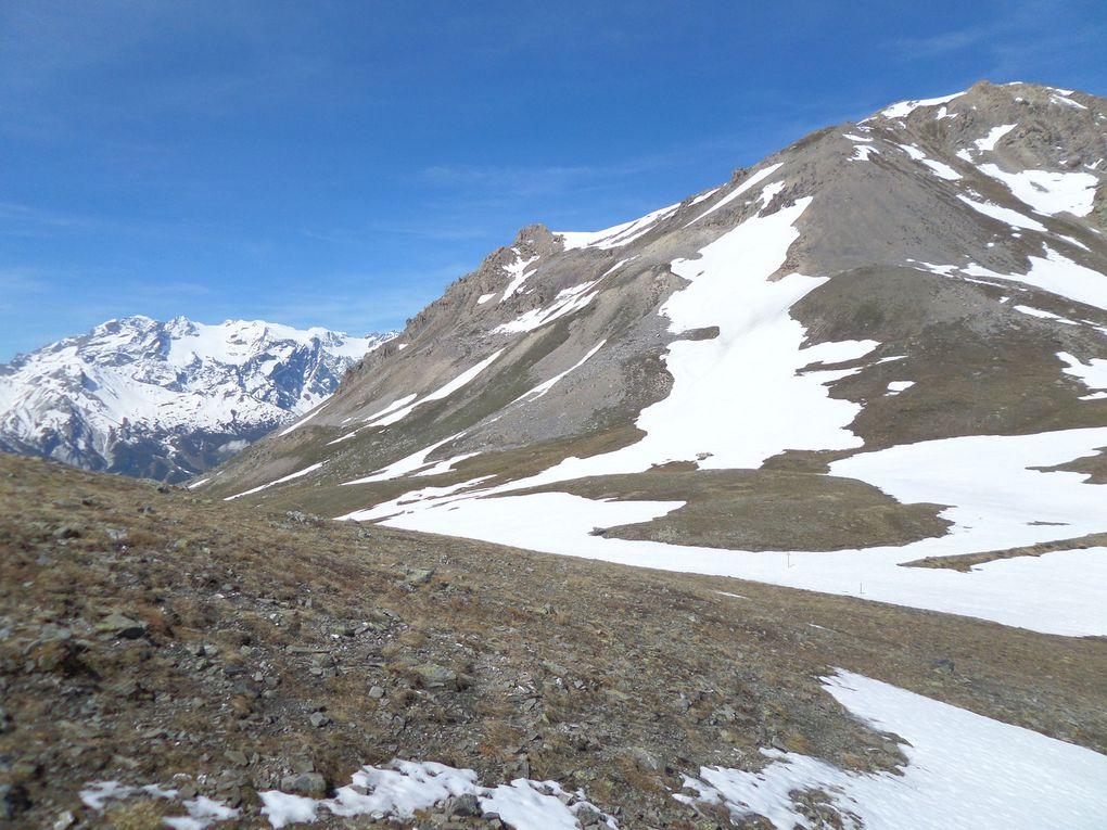 départ de St Joseph (2170m) et montée au Col Buffère (2427m) !! bel itinéraire en balcon !! à faire à ski de fond l'automne prochain !!