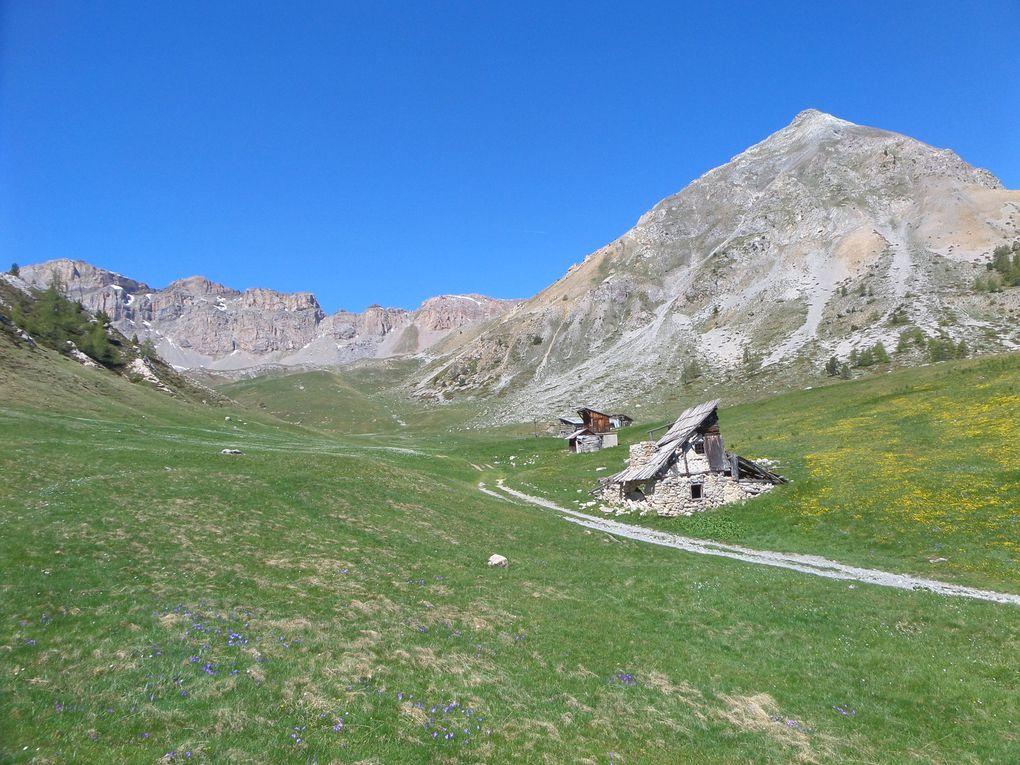 départ de la route du Col d'Izoard (2120m) montée aux Chalets d'Izoard puis jusqu'au Col Ourdéis (2420m) avec vue sur le Grand Peygu !! au retour , montée sur le belvédère qui surplombe les Chalets d'Izoard !! ce site est magnifique !!