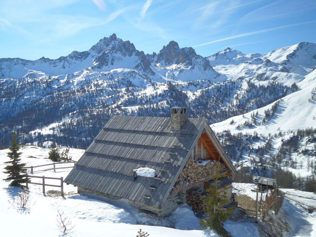 départ de Névache (1600m) et montée à ski de fond (avec 12 peaux) à Fontcouverte puis jusqu'au Refuge Ricou (2115m)