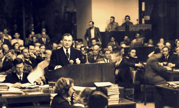 Robert Jackson - Hermann Goering lors de son interrogatoire