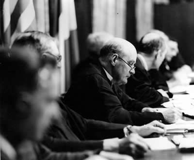 Robert Jackson - Henri Donnedieu de Vabres - Francis Biddle - Justice Lawrence - Iona Nikitchenko