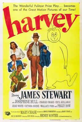 Harvey de Henry Koster avec James Stewart - Josephine Hull - Peggy Dow - Jesse White - Charles Drake - Cecil Kellaway - Victoria Horne - Wallace Ford - Nana Bryant - Clem Bevans