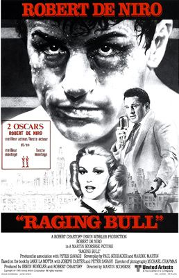 Raging Bull de Martin Scorcese avec Robert De Niro - Joe Pesci - Cathy Moriarty - Frank Vincent - Theresa Saldana - Nicholas Colasanto - Charles Scorsese - Frank Adonis