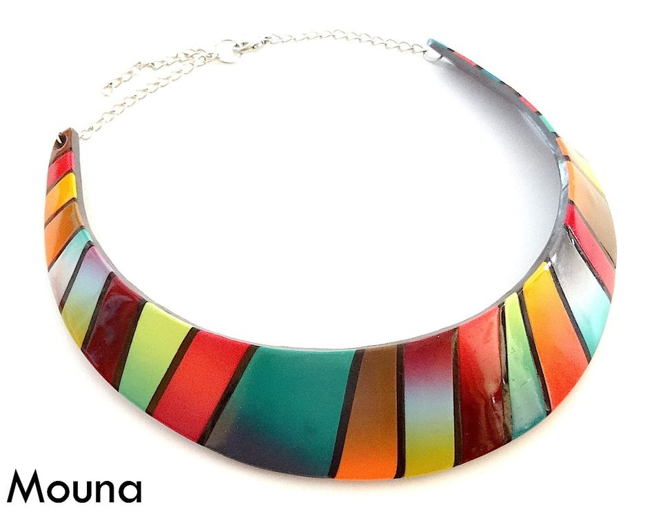 oO° Collier Patchwork moderne °Oo