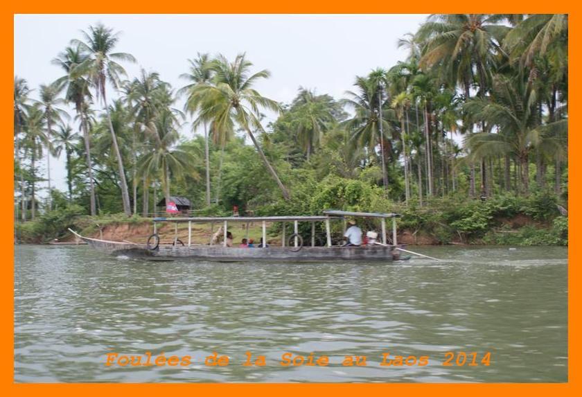 Foulées du Laos 2014. Croisière sur le Mékong et Île de Khong.