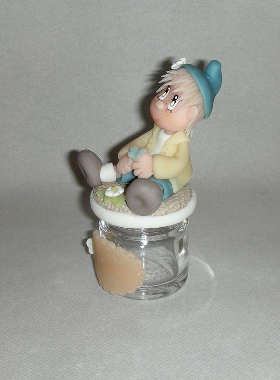 Pot à dragée avec p'tit Bambin